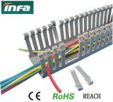 Piste encochée par Manche en plastique de PVC, chemin de câbles, tuyau de câblage