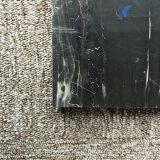 De opgepoetste Natuurlijke Zilveren Zwarte Marmeren Plak van de Draak