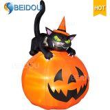 Abóbora inflável do fantasma inflável da casa do espírito do gato de Halloween para a decoração