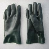 Перчатка PVC двойной стороны покрытая с вкладышем Knit шнура
