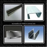 Glissières en aluminium de C pour la cloison de séparation élevée