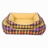 노란 직물 애완 동물 침대 개 강아지 고양이 집 제조자