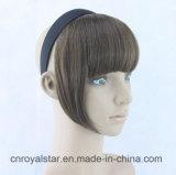 Clip accurata dei Sideburns lunghi della frangia di Fsahion nella parrucca della frangia dei capelli