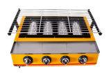 Handelsc$vier-kopf Klima-BBQ-Röster, Gas-Röster Et-K222 (Standard)