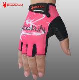 Специализированные перчатки девушок спорта Breathable простирания задействуя розовые