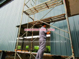 Завод стальной структуры для топления и силы на строительной площадке
