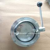 Dn25 Dn40 Dn50 Dn65 Dn80 Dn100のステンレス鋼の等級304の衛生溶接蝶弁