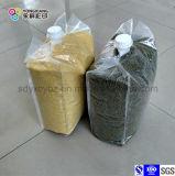 La bolsa de plástico transparente de los granos laminados del PE y del PA con el canalón
