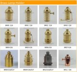 Kontaktbuchse-Weinlese-Metalllampen-Halter des Messinglampenhalter-E14 hängender heller