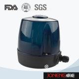 Válvula pneumática da borboleta sanitária do aço inoxidável com tampão do controle (JN-BV1001)