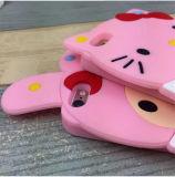 Caja del teléfono del silicón del gatito del corazón de la muchacha de la estrella del helado del arqueamiento hola para la galaxia J5 J510 2016 (XSR-026) de Samsung
