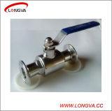 Válvula de bola de acero inoxidable Blocado actuador neumático 304 Sanitaria