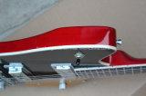 Hanhai Musik-/ungewöhnliche Form-elektrische Gitarre mit Gold Pickguard