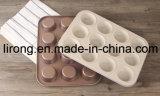 Vaschetta bianca Bakeware della focaccina del rivestimento di ceramica del acciaio al carbonio