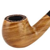 Verbogene grüne Filter-Tabak-Pfeife des Sandelholz-9mm