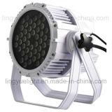54X3W RGBW IP65 LED PAR Waterproof Iluminação exterior