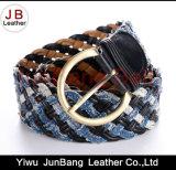 Cinghia di cuoio legata della treccia del Ladie di modo con il materiale del denim