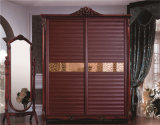 寝室181のための高品質のMorden Design PVC Shutter Series Wardrobe Sliding Door