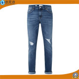 Jeans-Faltenbildung-Baumwolljeans der Dame-Fashion Sexy Denim Cotton