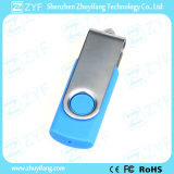 Lecteur flash 8GB en plastique d'émerillon bleu-clair en métal (ZYF1820)