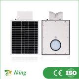 Alta eficiencia 8W todo en un solar de la calle Luz con el precio barato para Intergrative lámpara solar LED