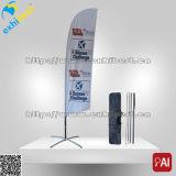 Facendo pubblicità ai segni ed alle bandiere per la promozione