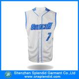 方法衣類のプリントロゴの通気性のMicrofiberメンズ野球のジャージ