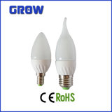 CER RoHS Approved 6W Ceramic LED Candle Bulb Light (GR801)