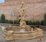 Fonte de pedra do granito/a de mármore da escultura da água do jardim para a decoração