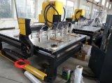 Máquina que tienen eje de rotación ocho, grabador del CNC del formato grande de madera del CNC