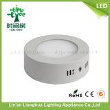 6W SMD LED superficie montada iluminación de panel redondo