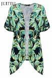 Rivestimento tessuto stampato tropicale del kimono delle donne