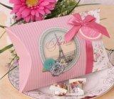 Rectángulo de empaquetado de la almohadilla del regalo de papel del caramelo con el arqueamiento
