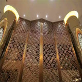Muro divisorio domestico dello schermo del metallo dell'acciaio inossidabile di Deco per gli hotel