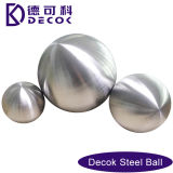 RoHS 0.35에서 200 mm Low Carbon Steel Balls 51mm Brushed 정원 Gazed Decoration Stainless Steel Ball