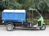 Lifanエンジン3の荷車引きのオートバイのごみ収集車