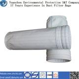 Bolsa de filtro de poliéster de filtro de polvo no tejido de venta caliente para la colección de polvo