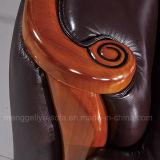 Sofá seccional del cuero tradicional (910 #)