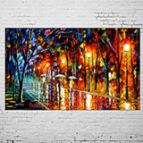 Canvas Street View Art에 Handmade Oil Painting Modern Landscape Knife Picture