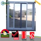 Стеклянное сползая окно двойной застеклять окна приема сползая