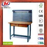 Banc de travail en bois en caoutchouc de panneau de joint de doigt