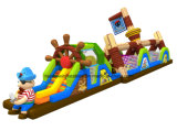 Kidsのための2016安いPirate Inflatable Obstacle Course Playground