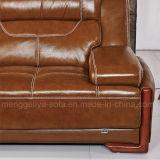 Sofà del cuoio genuino con il Chaise (817#)