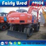 Excavatrice chaude Japon (bêcheur) de roue de Hitachi Ex100wd-2 d'occasion de vendeur (utilisée)