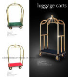 Carro do serviço da bagagem da bagagem do hotel do aço inoxidável