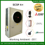Amb。 -25cの冬の床暖房100~350sqのメートル部屋12kw/19kw/35kwの高い警察官の低温分割されたシステムEviヒートポンプ