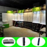 Индикация выставки торговой выставки стойки будочки Slatwall изготовленный на заказ ткани портативная алюминиевая