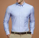 Del algodón del botón camisa de Oxford del collar abajo con el bolsillo del pecho
