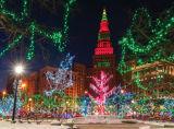 Cadena de Luz LED de Navidad de luz LED de Navidad Garland luz de la decoración