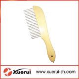 Гребень чистки волос любимчика с деревянной ручкой